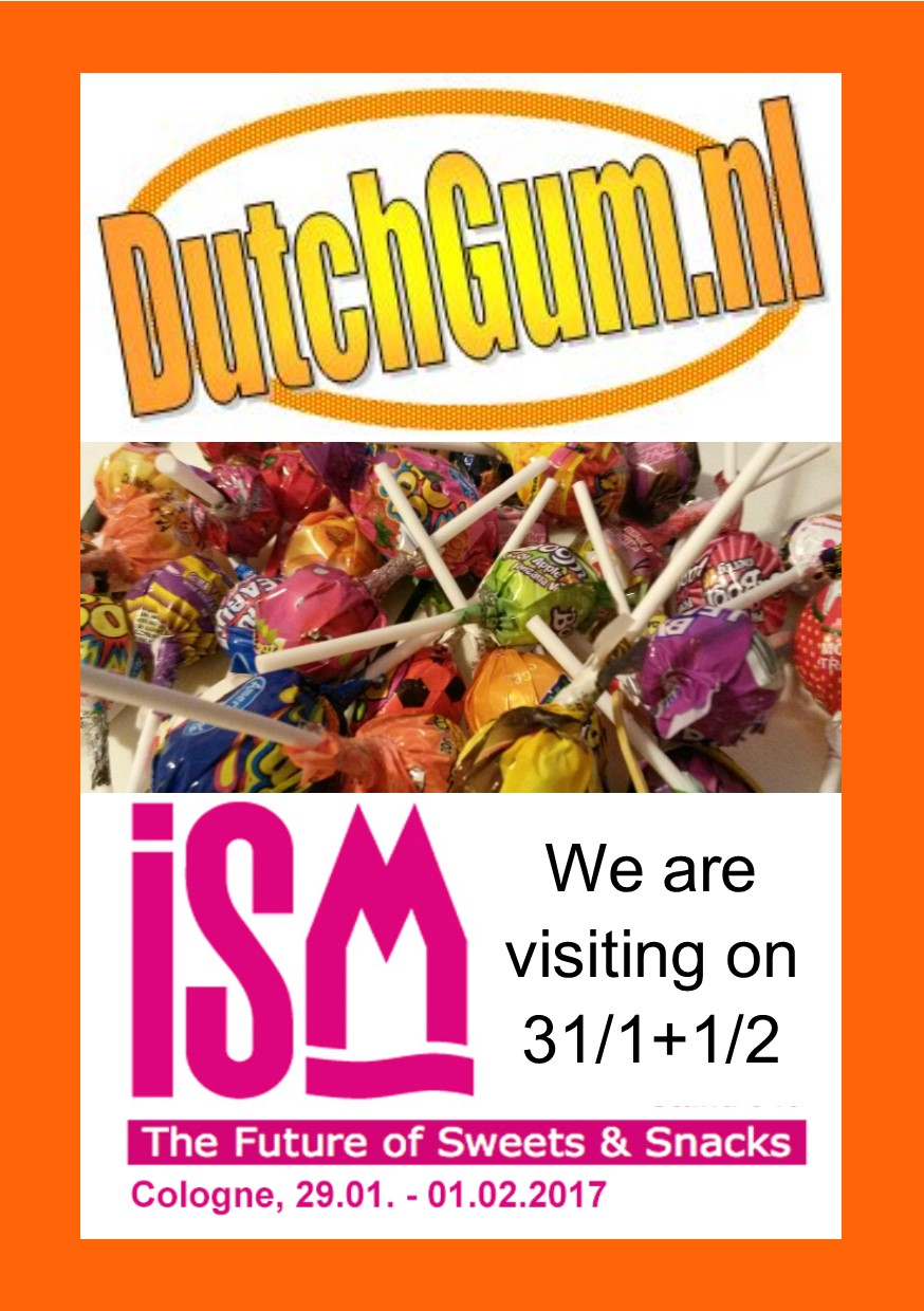 Dutchgum is visiting ISM2017 on Jan 31. and Feb 1