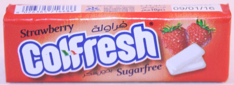 2013 Colfresh Strawberry 10 pellets Chewing Gum