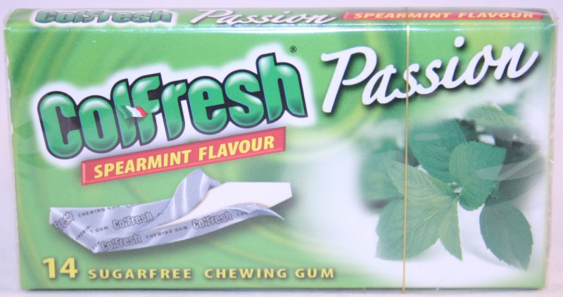 2013 Colfresh Passion Spearmint 14 sticks Chewing Gum