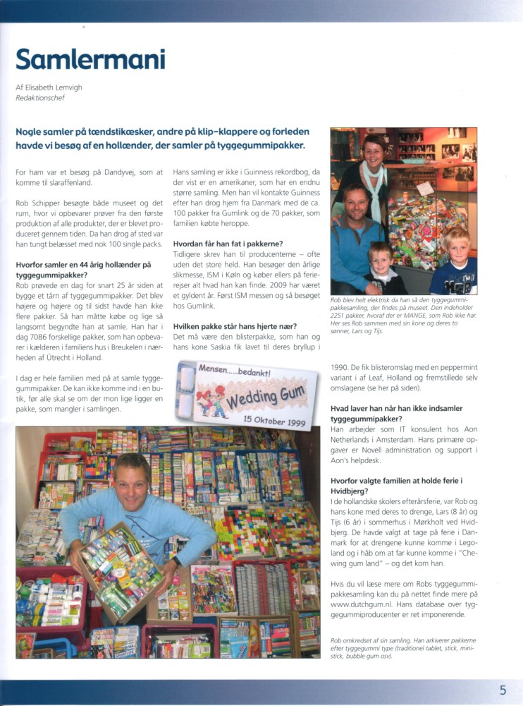 Article about DutchGum.nl in Tabletten the inhous magazine of the Gumlink Company