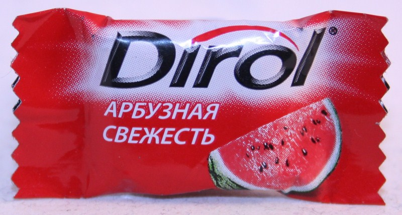2012 Dirol 2 pellets Watermelon (RU)