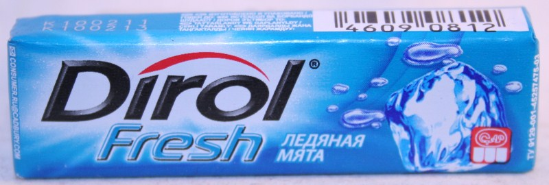 2012 Dirol Fruit 10 pellets Ice Mint (RU)