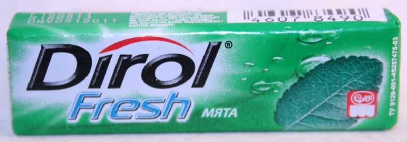 2012 Dirol Fruit 10 pellets Spearmint (RU)