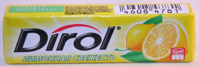 2012 Dirol Fruit 10 pellets Lemon (RU)