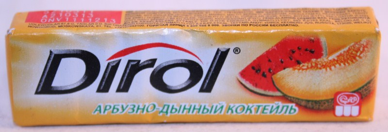 2012 Dirol Fruit 10 pellets Melon (RU)
