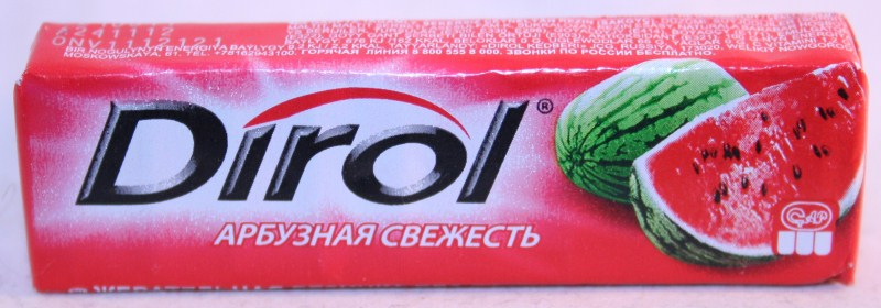 2012 Dirol Fruit 10 pellets Watermelon (RU)