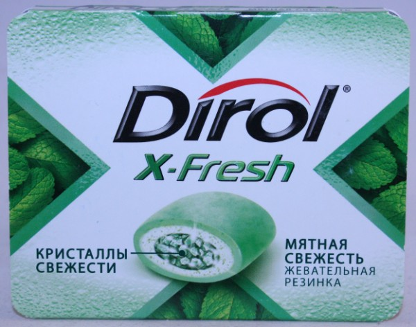 2012 Dirol X-Fresh 9 pellets Fresh Mint (RU)