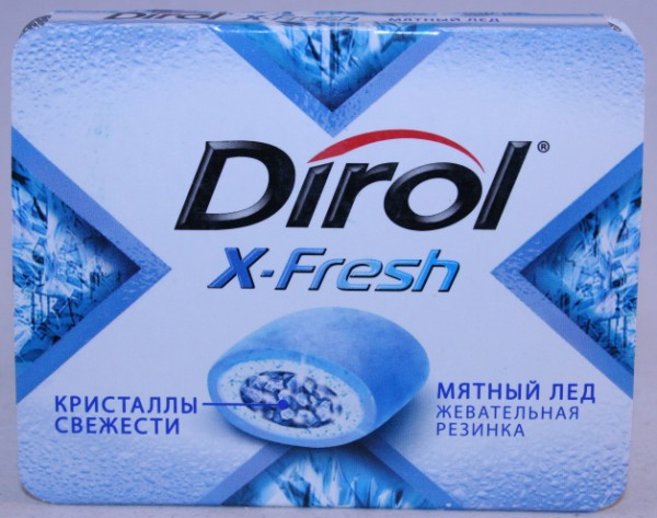 2012 Dirol X-Fresh 9 pellets Ice Mint (RU)