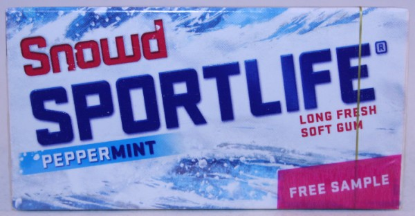 2012 Sportlife Snowd Peppermint 7 sticks, free sample